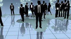Business People all Over in the World Stock Footage
