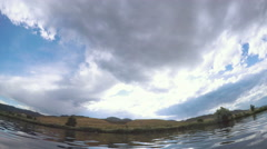Gravel pond in Chatfield State Park, Colorado. -POV point of view. Stock Footage