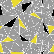 Low poly seamless repeat pattern. Triangular facets. Vector pattern. Wirefram Stock Illustration