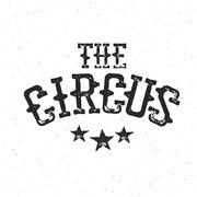 Classical circus logo design Stock Illustration