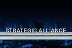 Strategic alliance on metal railing Stock Illustration