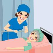 Nurse Talking To Patient Stock Illustration