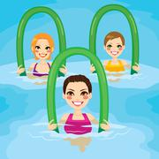 Aqua Gym Roller Stock Illustration