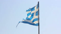 Greece National Flag Stock Footage