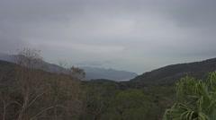 Moody landscape on Lantau island in Hong Kong Stock Footage