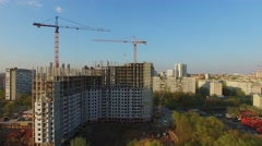 Cityscape with building site of residential complex Yauza Park Stock Footage