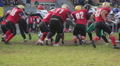 Successful player scores winning goal, american football match, team celebrating HD Footage