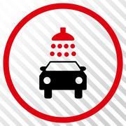 Car Shower Vector Icon Stock Illustration