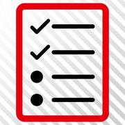 Checklist Page Vector Icon Stock Illustration