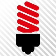 Fluorescent Bulb Vector Icon Stock Illustration