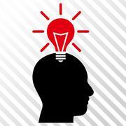 Genius Bulb Vector Icon Stock Illustration