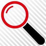 Magnifier Vector Icon Stock Illustration