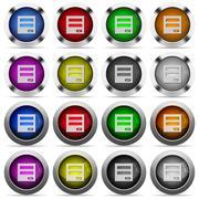 Login panel glossy button set Stock Illustration