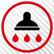 Shower Vector Icon Stock Illustration