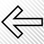 Arrow Left Vector Icon Stock Illustration