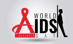 World AIDS day - vector sign symbol. 1 December. HIV Stock Illustration