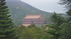 Po Lin Monastery at the Lantau island, Hong Kong Stock Footage