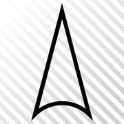 Arrowhead Up Vector Icon Stock Illustration