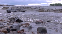 Cold water of Lake Ladoga Stock Footage