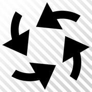 Cyclone Arrows Vector Icon Stock Illustration