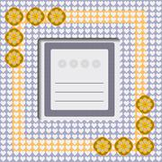 Vector greeting card Stock Illustration