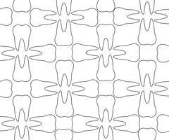 Dental pattern. Stock Illustration