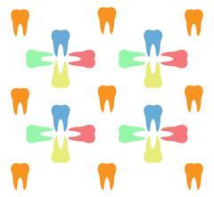Colorful teeth pattern Stock Illustration