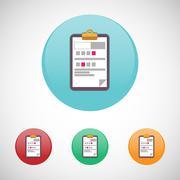 Prescription vector icon set. Stock Illustration