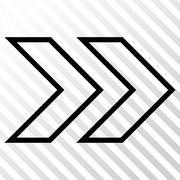 Shift Right Vector Icon Stock Illustration