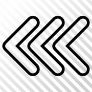 Triple Pointer Left Vector Icon Stock Illustration