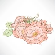 Red Rose Bouquet Stock Illustration