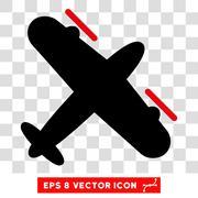 Propeller Aircraft Eps Vector Icon Stock Illustration