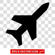 Aeroplane Eps Vector Icon Stock Illustration