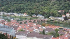 Heidelberg, Germany Neckar River Time Lapse Stock Footage