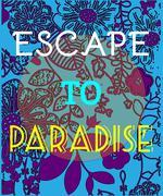 Summer Party Invitation Escape to Paradise Stock Illustration