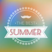 Best Summer Text Card Vector Illustration. Stock Illustration