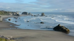 RSA 1747 A view S WS bandon rocks Stock Footage