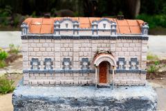 Stone Building Model of Ancient History. Anatolia, Kars, Turkey Stock Photos
