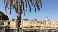 The ancient and biblical village of Capernaum, the village of Jesus Stock Footage