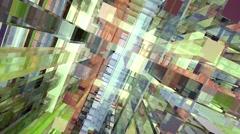Animated geometric screen saver Stock Footage