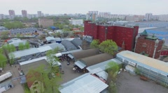 Industrial zone with storage and fish processing plant Sea Castle Stock Footage