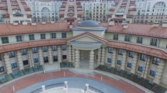 Residential complex Italian Quarter at cloudy day. Stock Footage