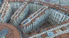 House complex Italian Quarter. Aerial view. Moscow Stock Footage