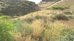 Panoramic View of Hippos Sussita in the Golan Highlands, Holy Land, Israel Stock Footage