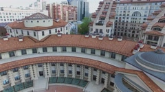 Facade of residential complex Italian Quarter. Aerial view. Stock Footage