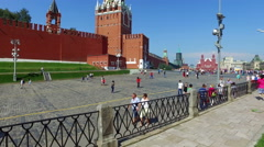 View of the Red Square and Spasskaya Tower Stock Footage