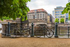 The bridge over the river Spree, Berlin, Germany Stock Photos