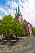 The restored Cathedral of St. Nicholas in Berlin, Germany Stock Photos