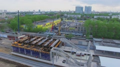 Building site of railroad station Boulevard Rokossovskogo Stock Footage