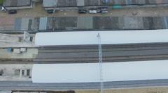 Construction site of railroad station Boulevard Rokossovskogo Stock Footage